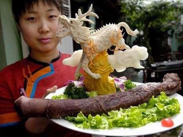 Hasil gambar untuk masakan penis hewan