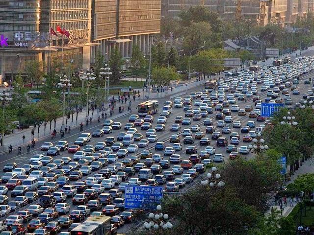 Kemacetan di Beijing pada 14 Agustus 2010