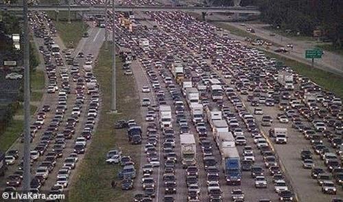 Kemacetan di Houston pada 21 September 2005