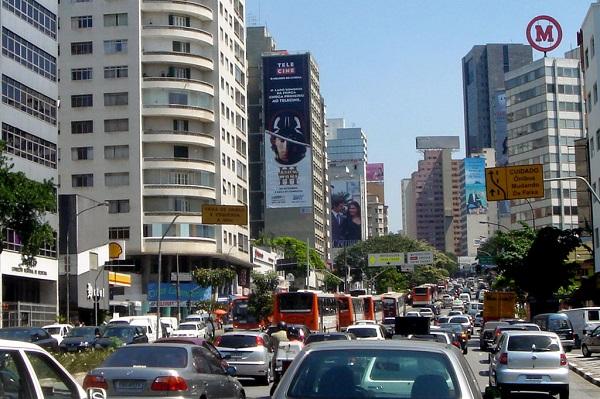 Kemacetan di Sao Paulo pada 10 Juni 2009