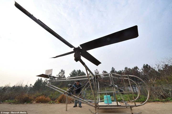 Helikopter buatan petani china