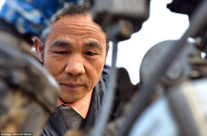 Helikopter buatan petani china