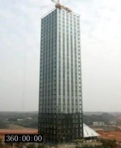 Sebuah Hotel 30 Lantai Hanya Dalam Tempo 360 jam